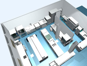 Restaurant Kitchen Layout 3d kitchen restaurant layout dimensions | uotsh with restaurant