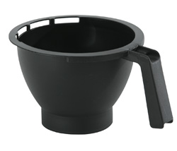 4157165 | Basket filter with | leak stop, Black
