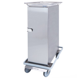 3756694 | Food transport trolley Metos Termia 1500 HN with central lockable 160 mm wheels |