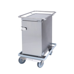 3756700 | Food transport trolley Metos Termia 1000 CN CB with 160 mm central lockable wheels |