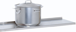4150409 | Solid shelf Metos , stainless steel 1280x300mm |