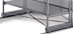 4202530 | Cross brace Metos Easy Rider, stainless steel, for shelving |