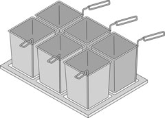 4215933 | Portion baskets and frame Metos Metos VarioCooking Center 11 |