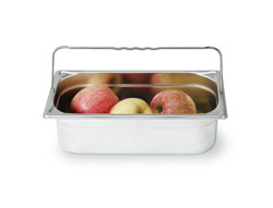 4255125 | GN container Metos GN1/3-100H, with handle, stainless steel |