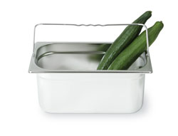 4255127 | GN container Metos GN1/3-150H, with handle, stainless steel |