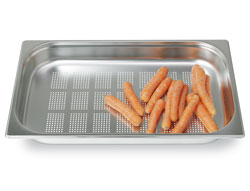 4255135 | GN container Metos GN1/1-65P, peforated, stainless steel |