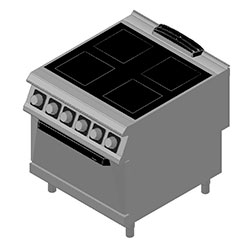 4343304 | Ceramic range with oven Metos Diamante D94/10VTCE |