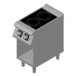 4343880 | Induction range  D72/10GCI with open cupboard |