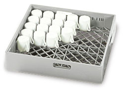 4550000 | Dishwashing  basket Metos  010G, for cups, grey |