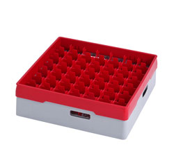 4550038 | Grey compartment basket Metos with red heightening frame and |