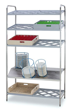 Racks for handling and storing tableware