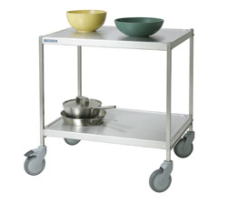 4554078 | Service trolley Metos SET-75WH/2, 2 tiers, without handle |