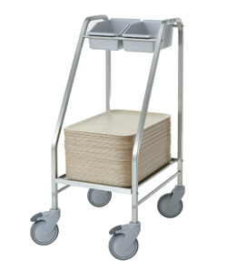 Tray and cutlery trolleys